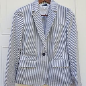 🎉J Crew|Schoolboy Blazer|Blue Striped|Sz 2